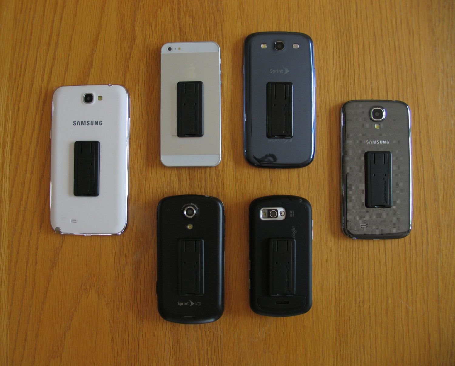 kickstand4u on various mobile phones