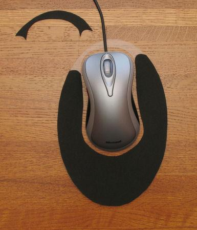 MouseGlider Foam Toe Cutout